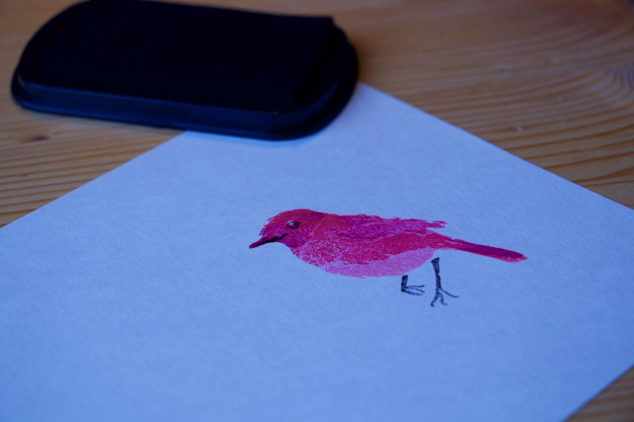 Razítko ptáka